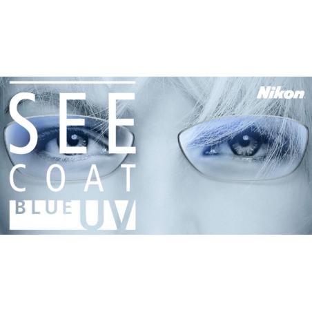Nikon 1.50 SPH See Coat Blue UV soczewki korekcyjne do okularów z filtrem światła niebieskiego