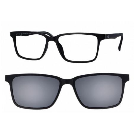Oprawki okularowe z nakładką przeciwsłoneczną z polaryzacją Centrostyle Clip-on 376 Black
