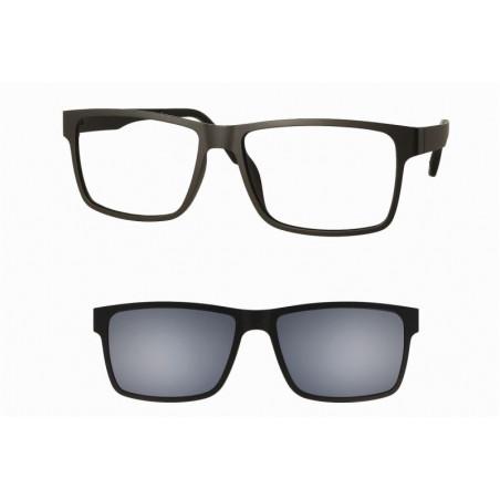 Oprawki okularowe z nakładką przeciwsłoneczną z polaryzacją Centrostyle Clip-on 348 Black