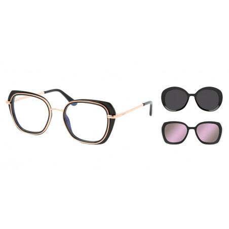 SOLANO CL 10135 A oprawki okularowe z 2 nakładkami przeciwsłonecznymi z polaryzacją Clip-On