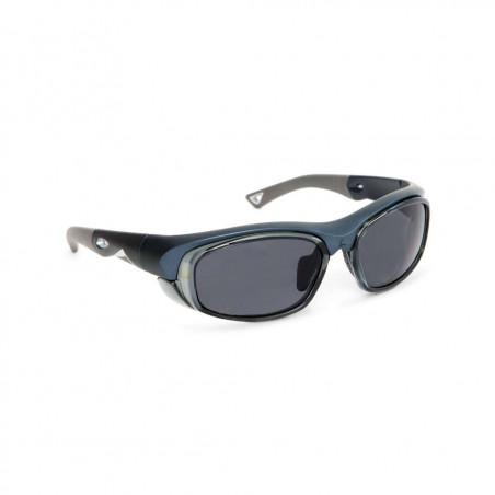 Okulary sportowe z możliwością korekcji LEADER ORACLE granatowy metalik matowy/srebrny
