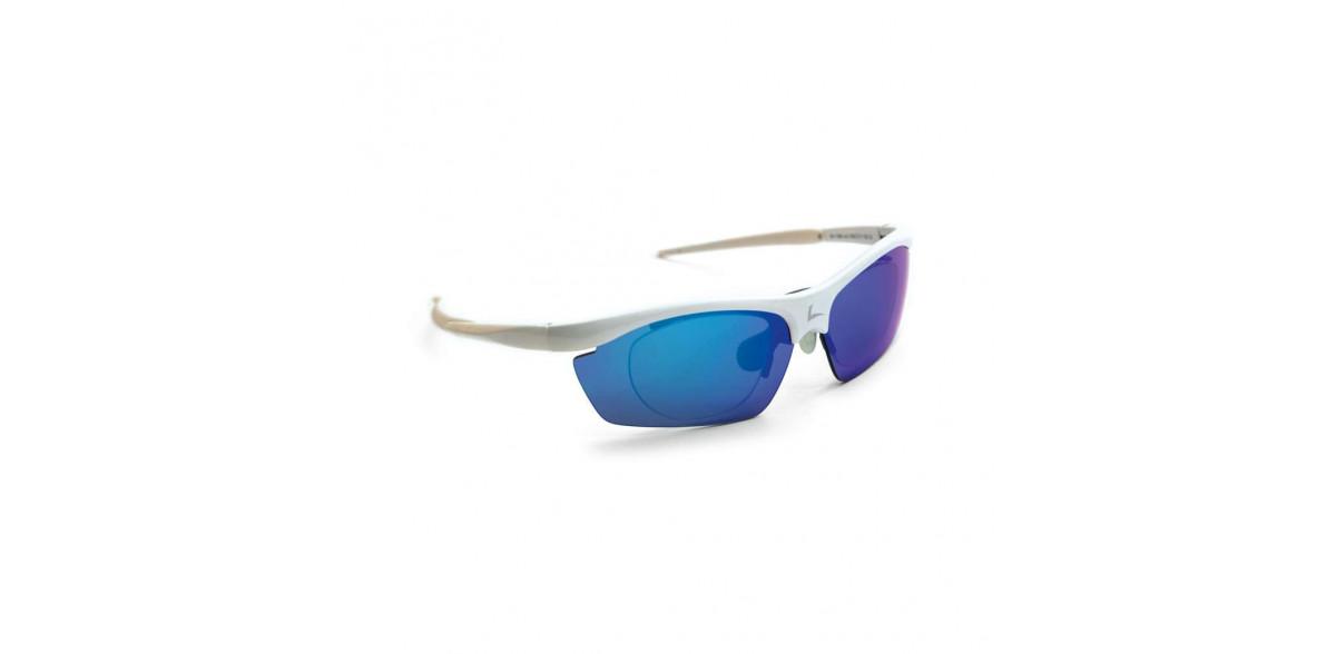 Okulary sportowe z możliwością korekcji LEADER PELOTON biały błyszczący