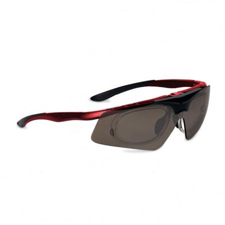 Okulary sportowe z możliwością korekcji LEADER FLASH czerwony